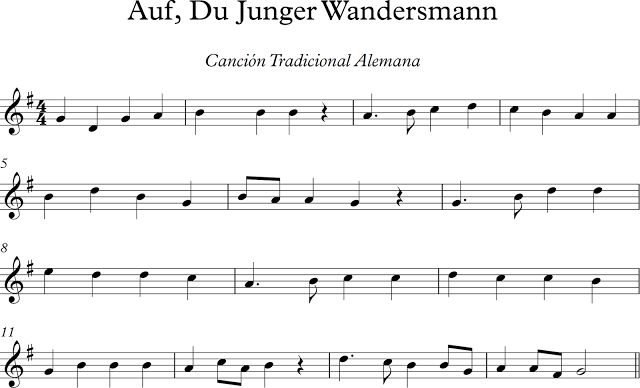 Auf Du Junger Wandersmann. Canción Tradicional Alemana.