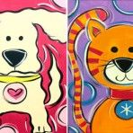 KIDS' CLASS: Puppy Love/What's New Pussycat @easelyamused