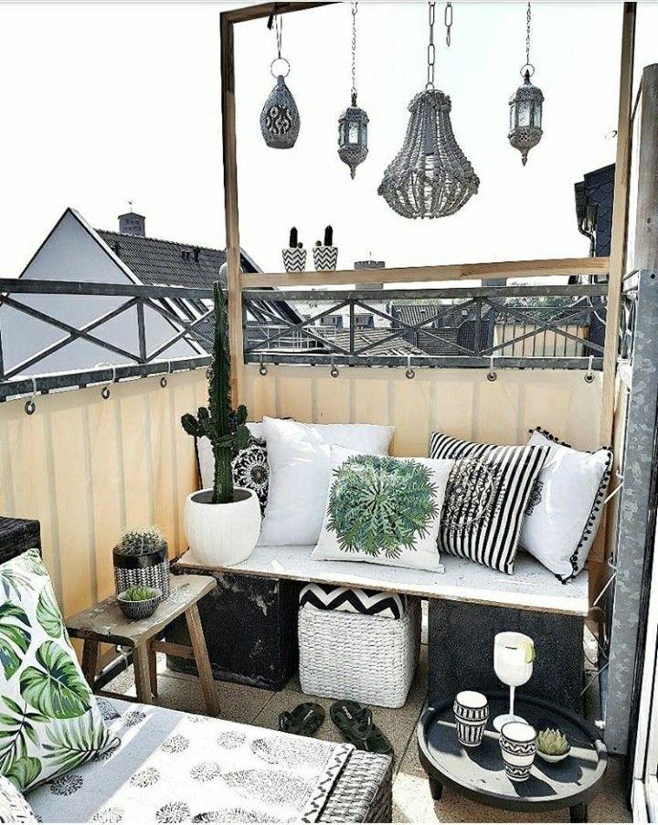 Pin Von Auf Wohnen Garten Balkon Ideen Balkon Deko Und Balkon