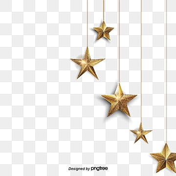 Golden Star Dangle Blue Walls Decorate The Gold Clipart Meteor Gold Png And Vector With Transparent Background For Free Download Star Background Hanging Stars Prints For Sale