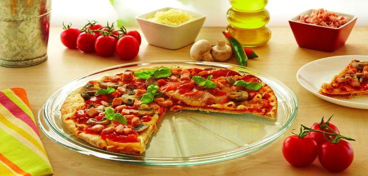 Pyrex Classic Plat à Pizza en verre haute résistance diam 32.5 cm