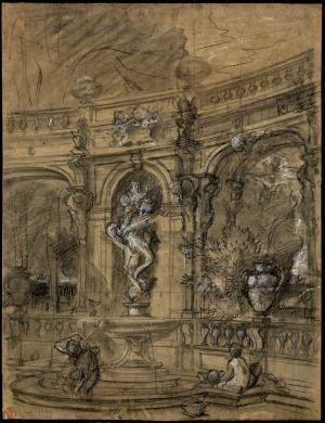 [Etude d'architecture de fontaine]   Centre de documentation des musées - Les Arts Décoratifs