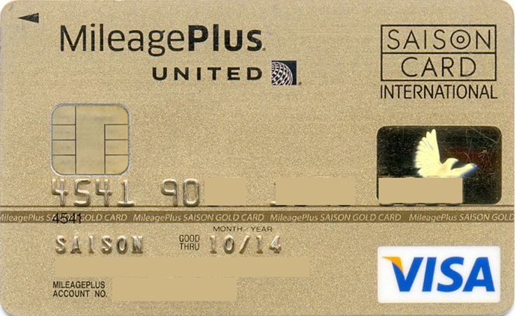 United VISA Gold JP (Credit Saison Co.,LTD, Japan) Col:JP-VI-0008