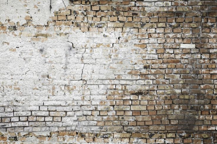 Faux Walls Collection/ Aged Brick Mural #wallpaper | Urban ...
