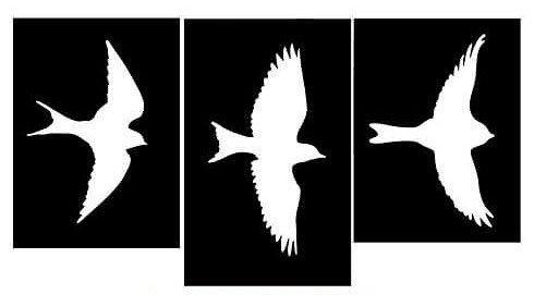 Plantillas De Aves Volando Para Decorar Paredes Aves Volando Plantilla De Aves Decorar Paredes