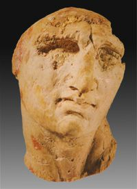 Olympias, mother of Alexander the Great Ivory head found in Tomb II