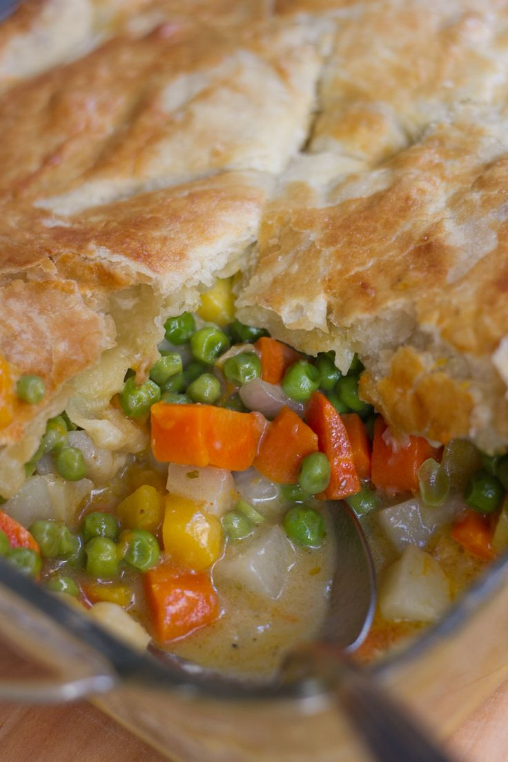 Fall Vegetarian Pot Pie from A Thought For Food - #recipe