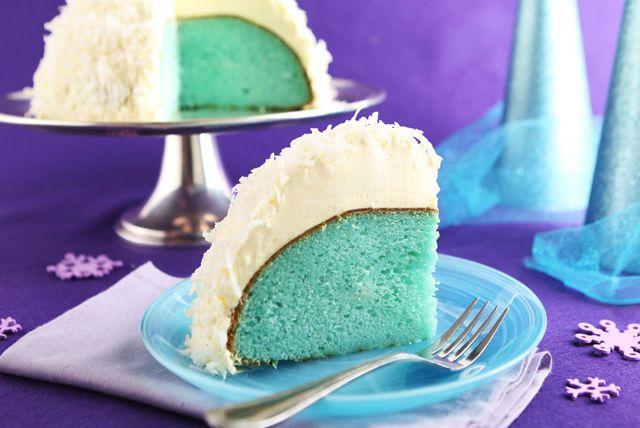 Que trouve-t-on dans une boule de neige? De la neige bien sûr. Et que trouve-t-on dans ce gâteau boule de neige à la noix de coco? Une surprise colorée aux petits fruits, idéale pour un gâteau d'anniversaire!