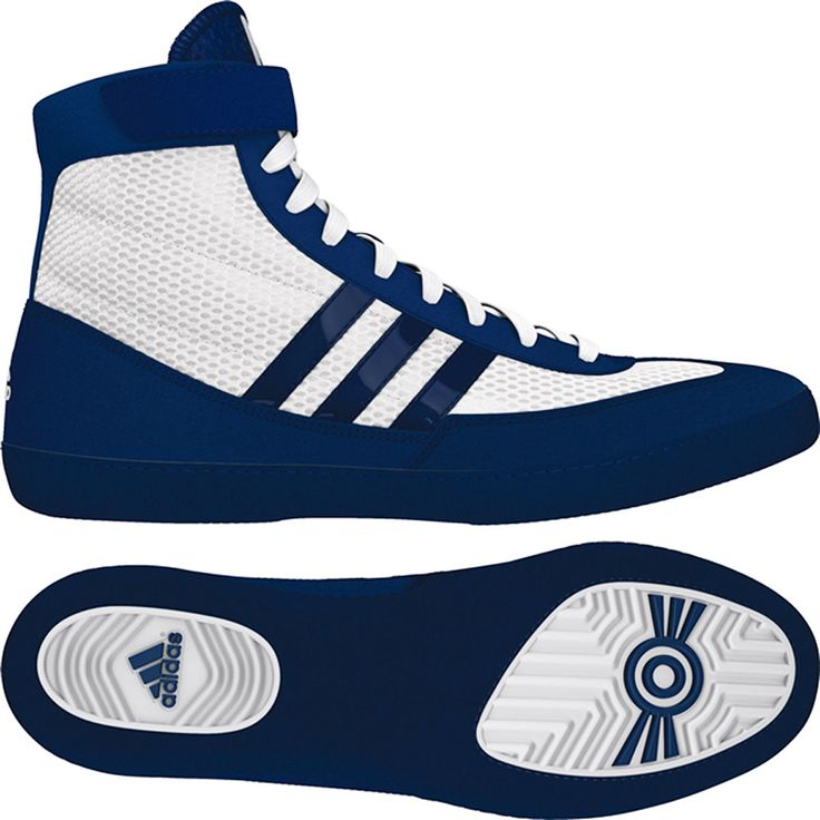 Adidas Combat Speed 4 Youth Wrestling Shoes  White/Navy
