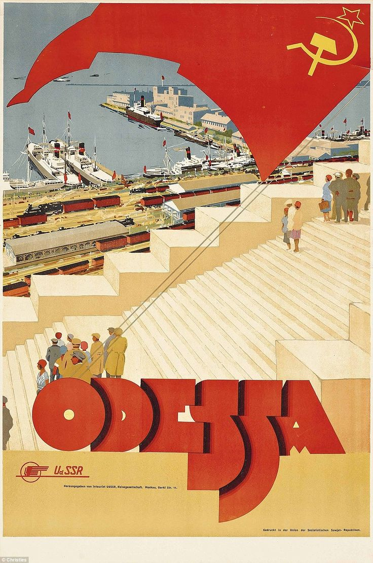 Soviet era tourism posters from Stalin's Intourist agency are up for auction at Christie's...