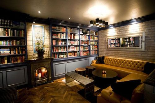Books & Bars - maybe there's something redeeming in LA after all...but I'm sure there's more reading of body language and text messages than these books! Still, I like the idea of a literary lounge.