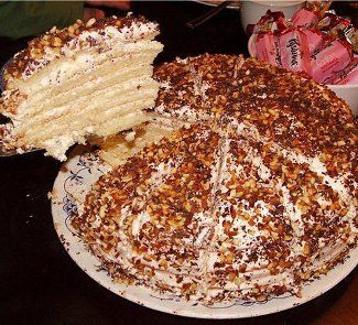 Торт-сметанник Smetana (sour cream) cake. many many layers, like the super hero of layer cakes.