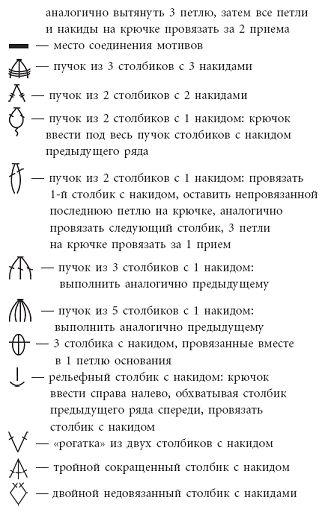 Crochet Symbols in Russian 3