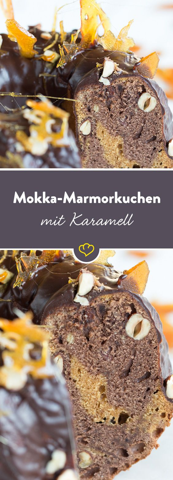 Den Kaffee zum Kuchen kannst du dir sparen, in dieser süßen Köstlichkeit ist er schon drin. Mit Karamell veredelt wird der Klassiker zu einem saftigen Gaumenschmaus.