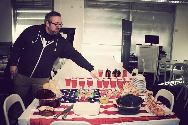 At today's #CulturalFriday our Head of Platform, Alistair Coggins, prepared some delicious American treats for us! Does anyone else get hungry just by looking at those philly steak sandwiches, pulled pork, key lime pies, beef jerkies, reeces peanut butter candies, cupcakes and chocolate chip cookies again?