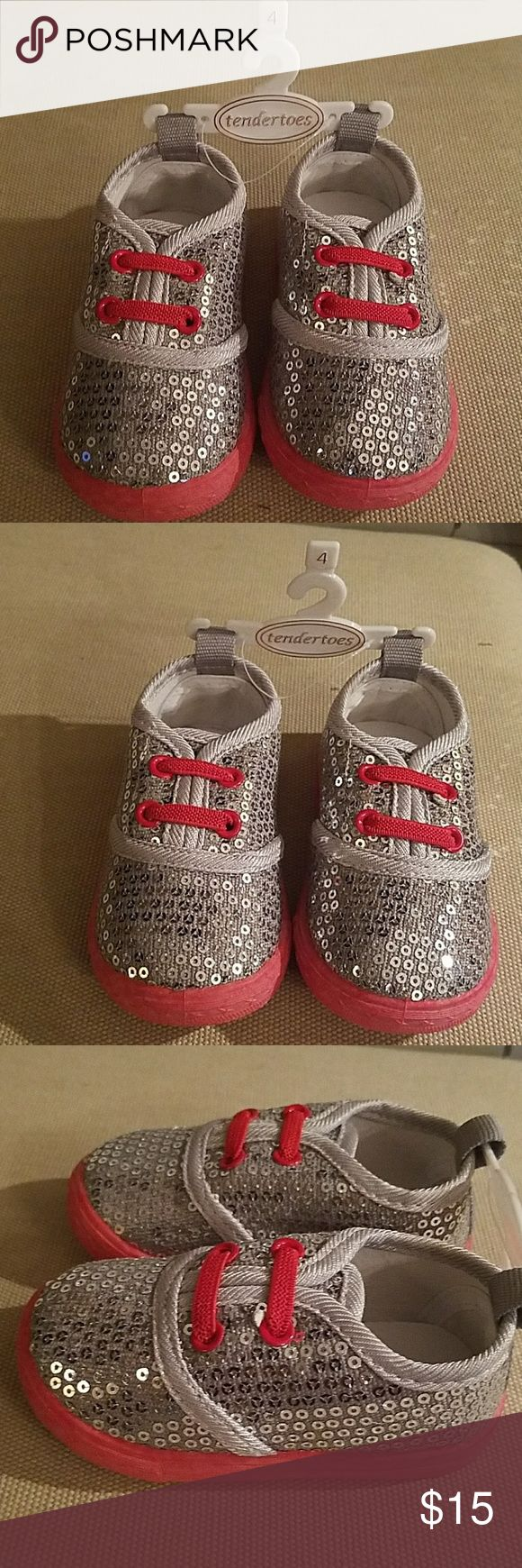 Tender toes baby Diva shoes. Size 4 These sneakers are new they are baby shoes size 4. They will fit an infant size 6 to 12 months. tender toes Shoes Sneakers