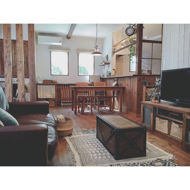Reiyaさんの、Overview,ペンダントライト,一軒家,パイン材,塗り壁,無垢材,自然素材,小さなお家,木のぬくもり,シラス壁,柿渋塗装,オンリーユーホームについての部屋写真