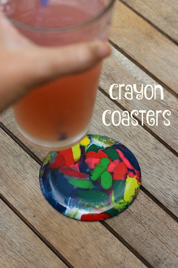 These easy to make crayon coasters are a perfect way to turn all your broken crayons into something amazing!