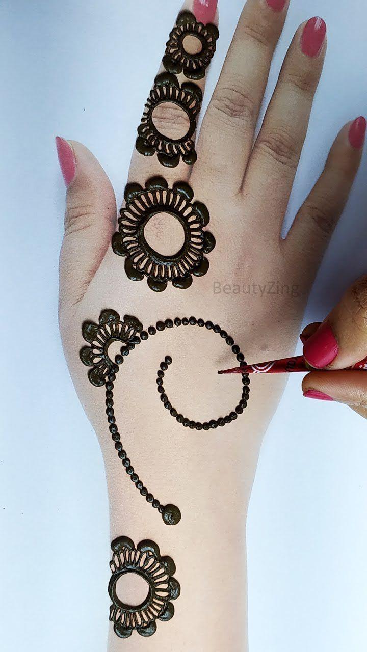 स दर अर ब क म ह द लग न स ख Stylish Arabic Mehndi Design Easy Mehndi Design For Hands In 2020 Hand Henna Henna Designs Arabic Henna Designs