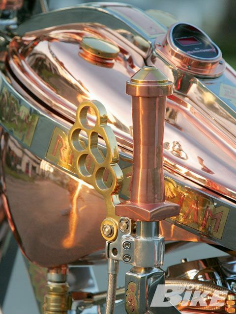 2008 Rigid Runic Custom Gas Tank, polished copper