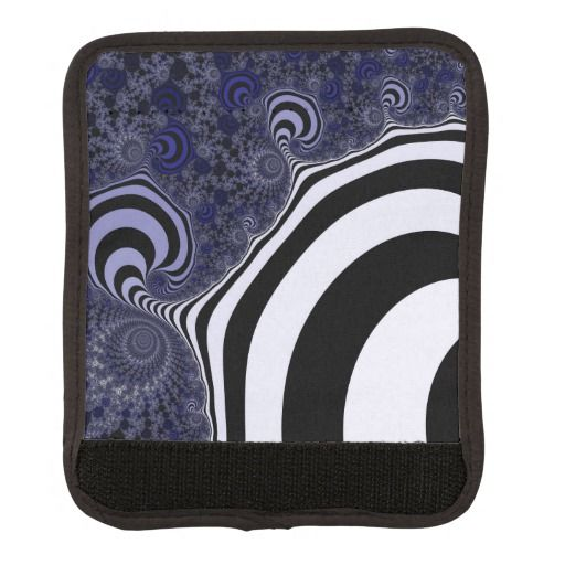 Blue and black striped fractal. handle wrap #handlewrap #customized, personalized, artwork, buy, sale, #giftideas, #zazzle, shop, discount, deals, gifts, shopping, abstract, antenna, art, artwork, bee, black, #blue, bright, cold colors, computer, cool colors, duotone, #fractal, fractal art, fractal artwork, generated, illustration, julia, light, locator, mandelbrot, pattern, paw, square, striped, suction, white, strip, dark, funny strips, modern
