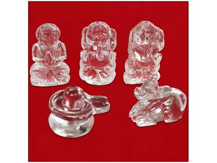Shiv Parivar idols in Crystal online from the best online store from India