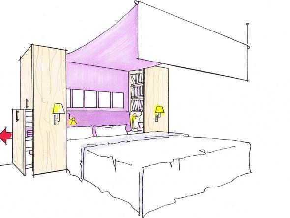 the 25+ best ideas about bett stauraum on pinterest   lagerbetten ... - Platzsparend Bett Decke Hangen