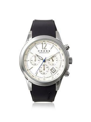 56% OFF Cross Men's CR8011-02 Agency Black/Silver Stainless Steel Watch