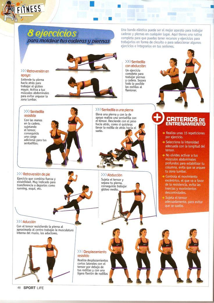 M s de 25 ideas incre bles sobre ejercicios con banda for Entrenamiento para adelgazar