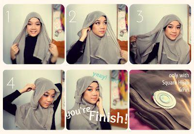 Hijab / jilbab tutorial - square paris jilbab