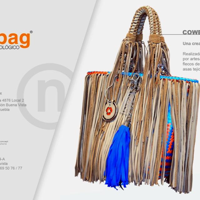 Describe tu pin...bolsa de piel reciclada y canasta x artesanos oaxaqueños... Basbag.com.mx