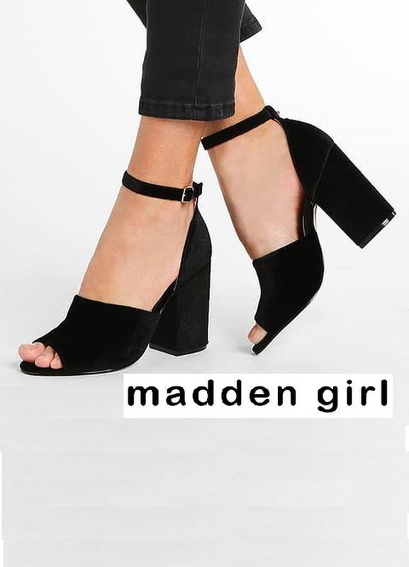 ddf4d07c6001f9 Madden girl оригинал замшевые босоножки на удобном широком каблуке бренд