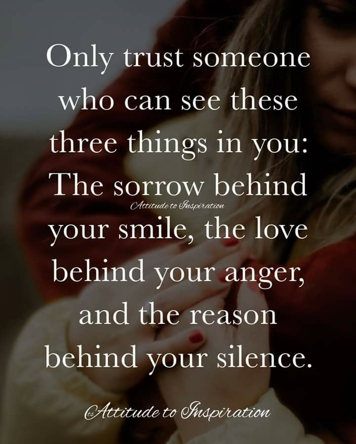 Image result for only trust someone who can see three things