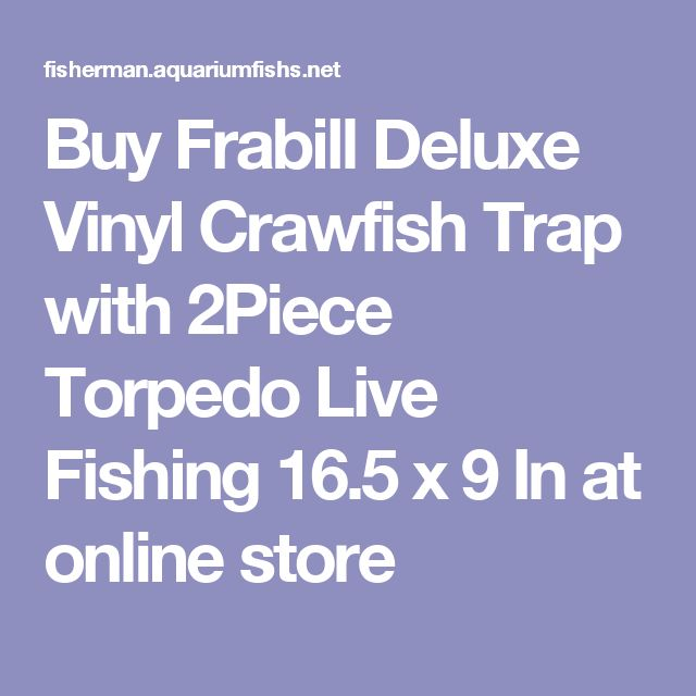 Buy Frabill Deluxe Vinyl Crawfish Trap with 2Piece Torpedo Live Fishing 16.5 x 9 In at online store
