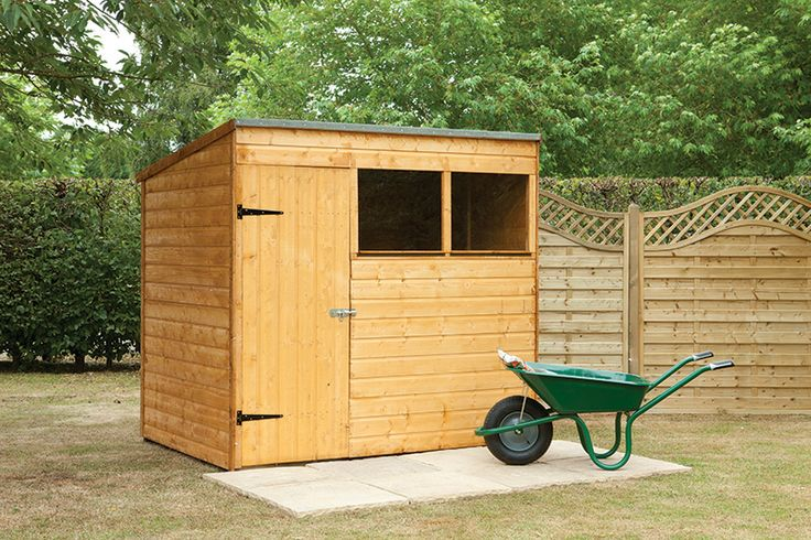 this 7x5 pent shed has a high quality shiplap construction featuring a pent roof providing generous head room inside the shed making it ideal for