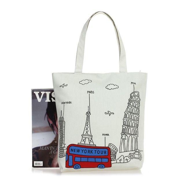 Travel  Tote bag Другие холщовые сумки с интересными принтами смотрите здесь http://blogosum.com/posts/promo-sumki и здесь http://www.prospero.spb.ru/index.php/articles/43.html