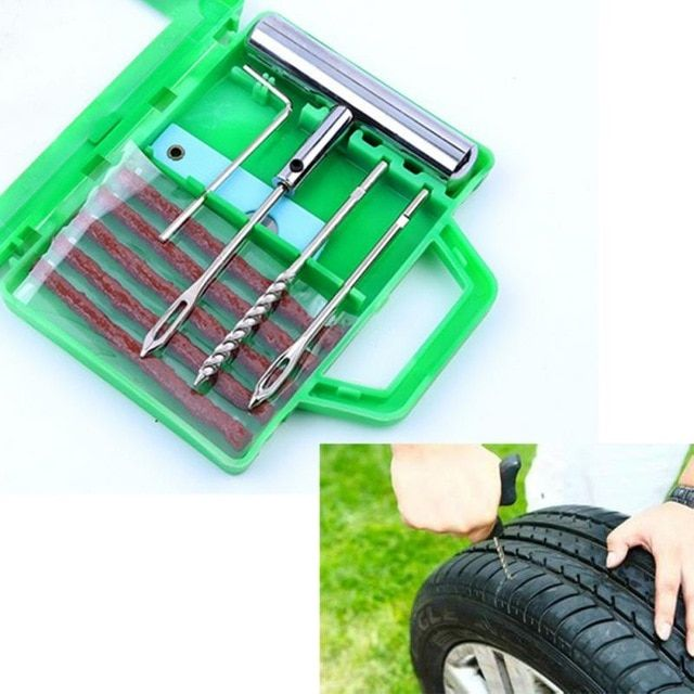 Car Auto Tubeless Tyre Repair Tool Kit Puncture Plug Tire Cement