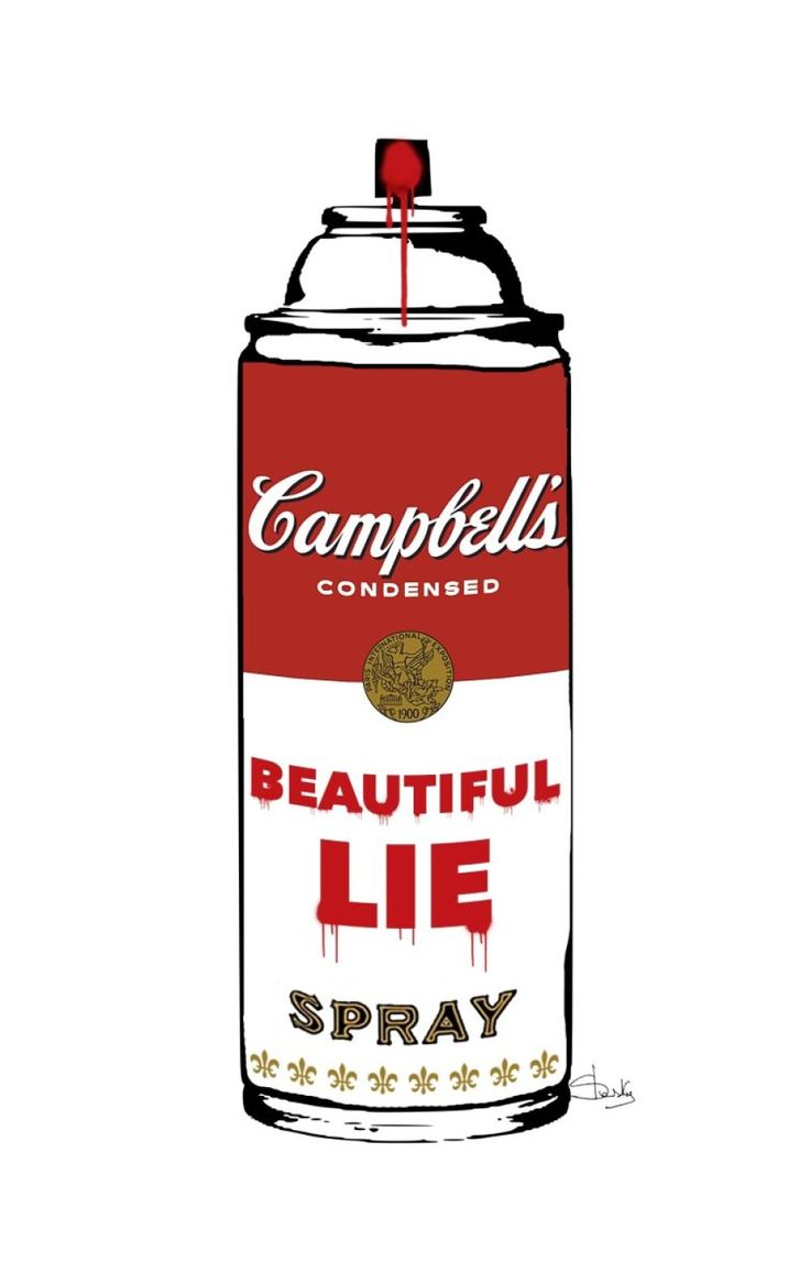 Digital Painting on canvas for Giclée printing, one-piece 1/1.   From Spray Cans Collection Series In this series dedicated to the spray cans would like to refute the general opinion that sees t...