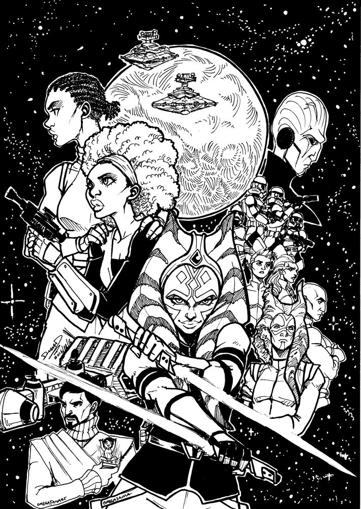 Fan-made cover for 'Star Wars: Ahsoka' (Image credit: Omegafanart)