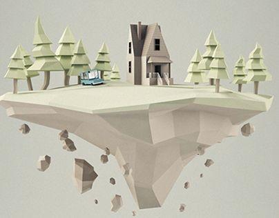 ISLA: un modelo en 3d realizado para una pagina web