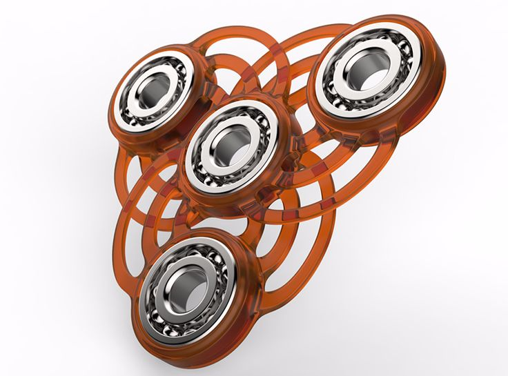 Ornamental Fidget spinner - a 3D model by Adrian Mankovecký | VECTARY    fidget spinner, had spinner, free 3D model, 3D printing, 3D print, finger spinner, toy, diy