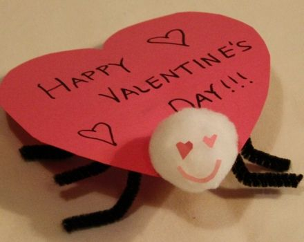 Activities: Love Bug Craft. Did this with the kids, it was fun especially on a snow day.