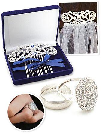 Bella's wedding stuff - something old, something new, something borrowed, something blue