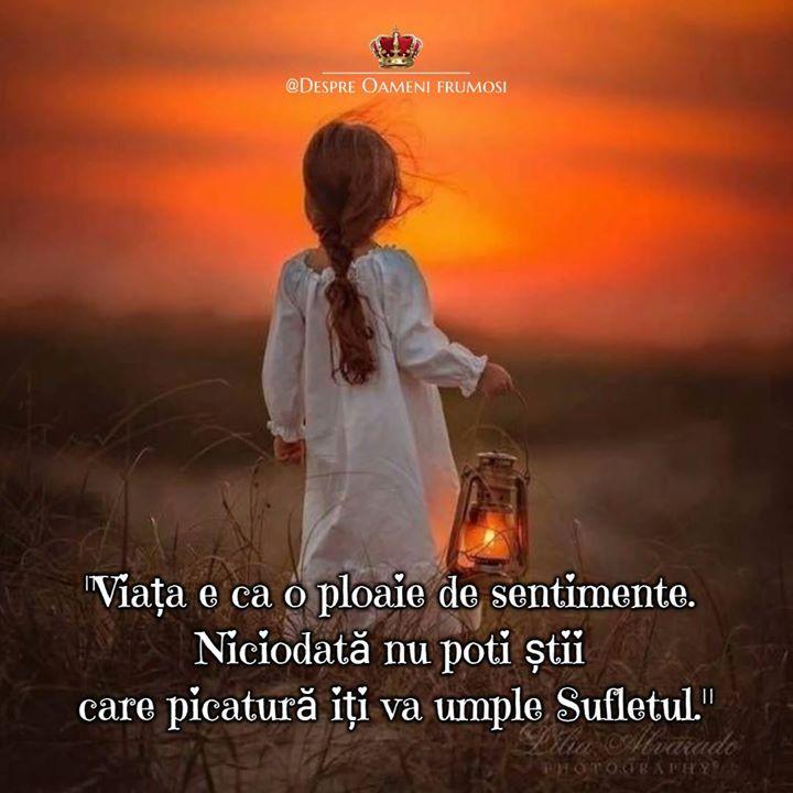 """""""Viata e ca o ploaie de sentimente. Niciodata nu poti sti care picatura iti va umple sufletul.""""   Zile cu frumos în Suflet... cu Iubire... trăite în Adevăr! __________  Despre Oameni frumosi  - postări din Suflet pentru Suflet   https://ift.tt/2xyywKb  - o arhivă cu cele mai frumoase 500 postări de pe facebook"""