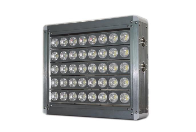 Our LED sports lights is the brighest fixture on the market today. With the highest lumen output on the market at 130-160 lumens per watt this fixture will light up your sports stadium lighting, airports, gas stations or work shops we have the most versatile on the market period.