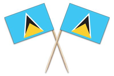 St. Lucia Toothpick Flags #Toothpickflag.com #MadeintheUSA #MadeinAmerica #StLucia #SaintLucia #ToothpickFlag #Catering #Event #Party