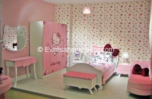 Şık hello kitty yatak odası Resimleri