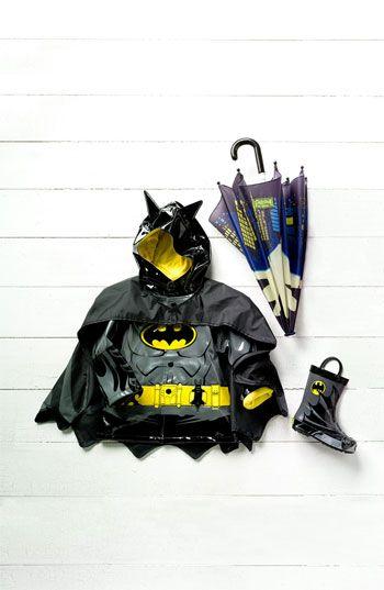 Western Chief 'Batman Everlasting' Light-Up Rain Coat (Toddler, Little Boys & Big Boys)  #Nordstrom #kids