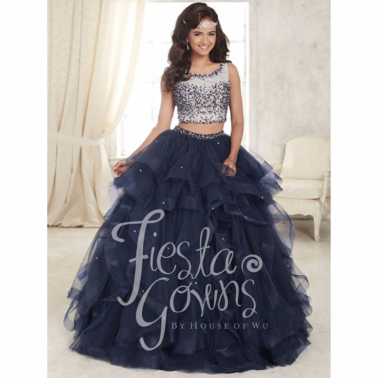Find More Quinceanera Dresses Information about 2016 Navy Blue Two Pieces…