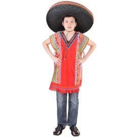 Déguisement poncho mexicain enfant luxe